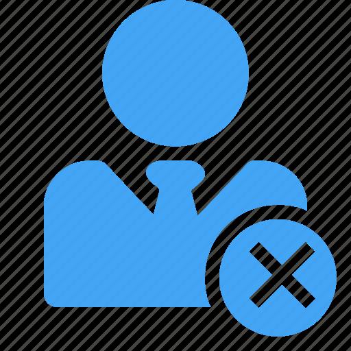 avatar, close, delete, male, man, user icon