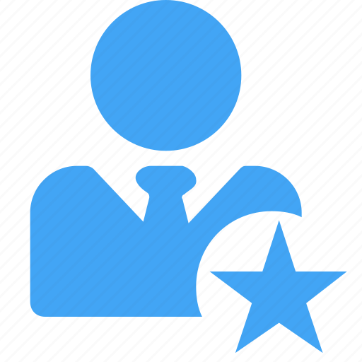 avatar, business, favourite, male, man, star, user icon