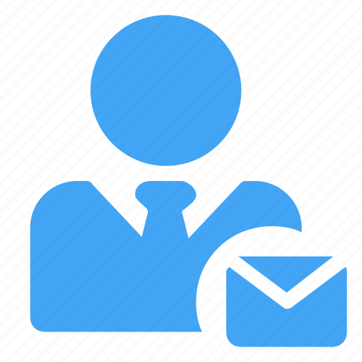 avatar, business, letter, male, manager, message, user icon