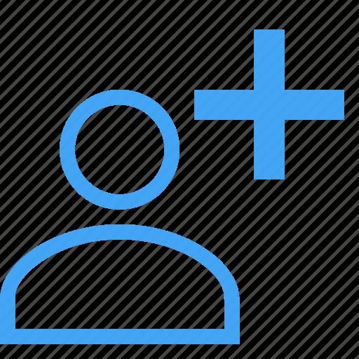 account, add, avatar, human, person, plus, user icon