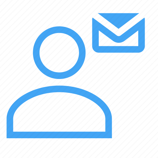 business, letter, male, man, message, user icon