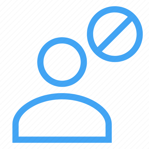 avatar, blocked, business, human, male, man, user icon