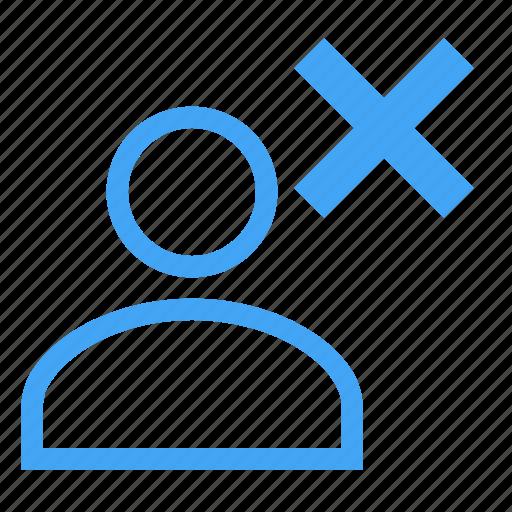 avatar, business, cancel, delete, human, male icon
