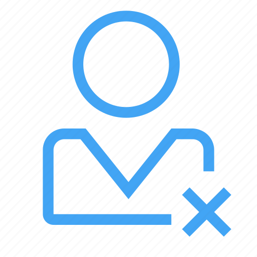 avatar, close, delete, male, man, manager, user icon