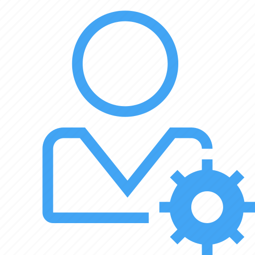 avatar, configuration, gear, male, manager, settings, user icon