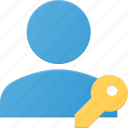 access, action, key, people, user icon
