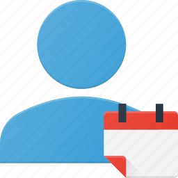 action, callendar, people, user icon