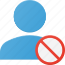 action, disable, people, user icon