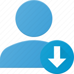 action, download, info, people, user icon
