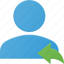 action, people, reply, user icon
