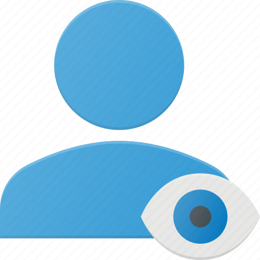 action, eye, people, user, view icon