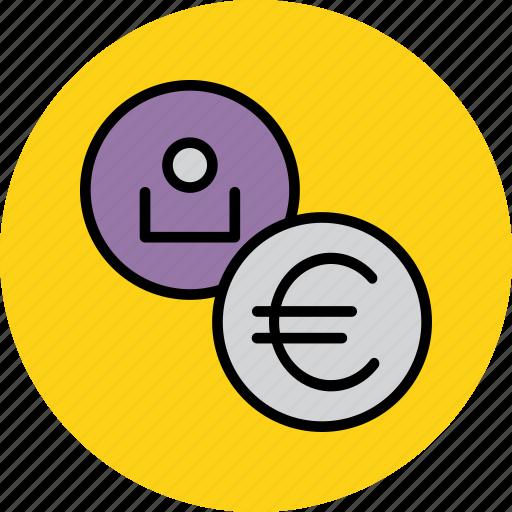 account, employee, euro, european, region, union, user icon