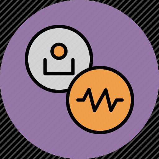 account, activity, employee, recent, status, track, user icon