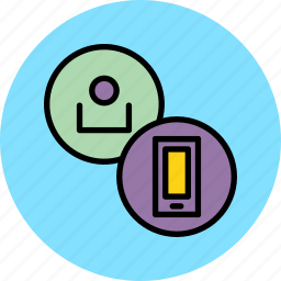 account, communication, employee, mobile, phone, recharge, user icon