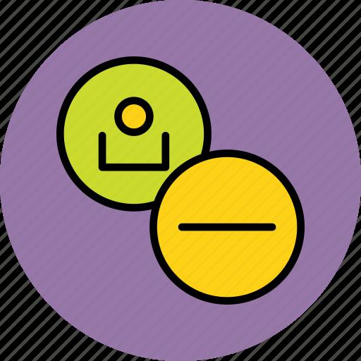account, clear, delete, employee, profile, remove, user icon