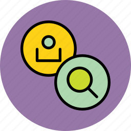 account, details, employee, find, locate, search, user icon