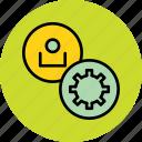 account, control, employee, options, profile, settings, user icon