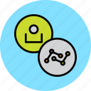 account, analysis, analytics, employee, statistics, stats, user icon