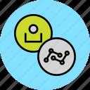 account, analysis, analytics, employee, statistics, stats, user icon