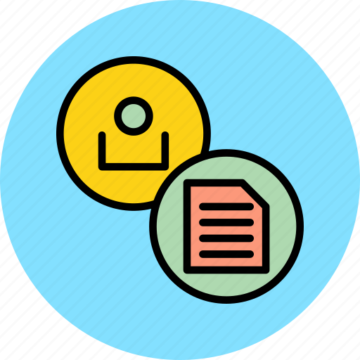 account, details, employee, profile, report, summary, user icon
