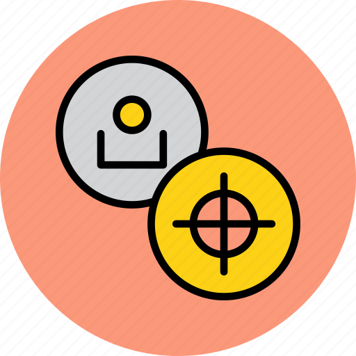 account, employee, find, goal, profile, target, user icon