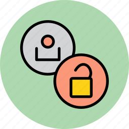 access, account, allow, employee, permission, unlock, user icon