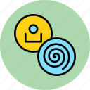account, complexity, customer, data, profile, spiral, user icon
