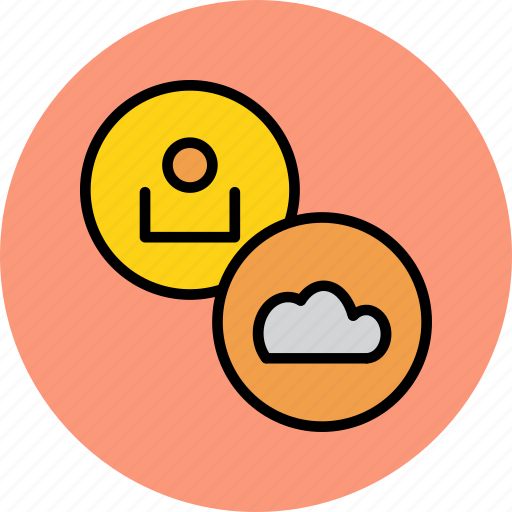 account, cloud, customer, details, profile, storage, user icon
