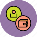 account, balance, cash, customer, employee, user, wallet icon