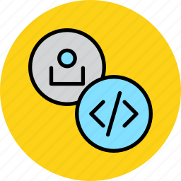 account, avatar, code, developer, profile, software, user icon