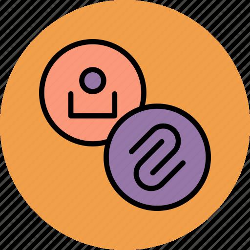 account, attach, attachment, customer, link, profile, user icon