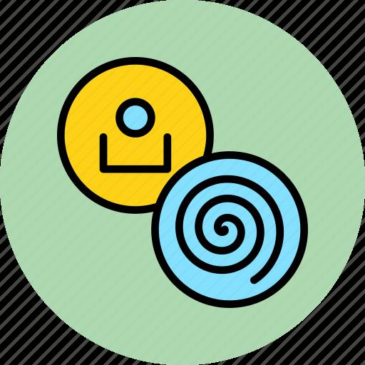 account, complexity, customer, data, profile, spiral, user icon