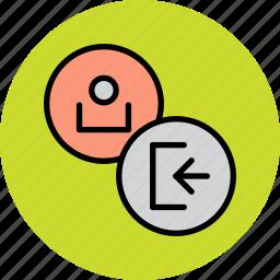 account, customer, in, log, profile, sign, user icon