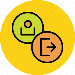 account, customer, log, out, profile, sign, user icon
