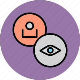 account, customer, eye, overview, profile, user, view icon