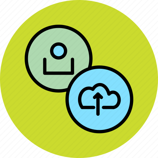 account, cloud, customer, profile, store, upload, user icon