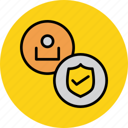 account, customer, safe, secure, shield, user, verification icon