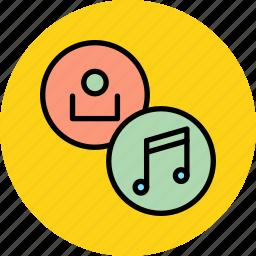 account, audio, customer, listen, multimedia, music, user icon
