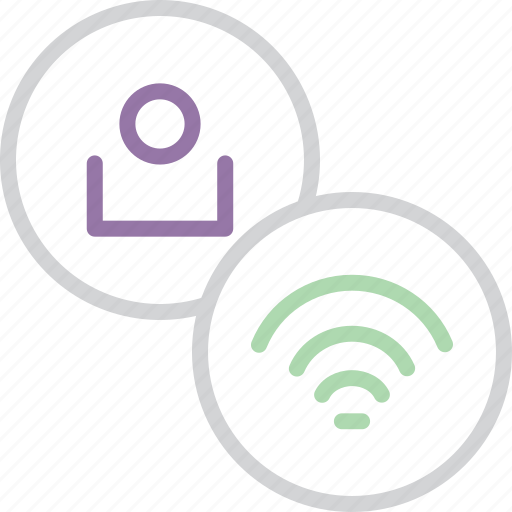 account, connection, customer, online, profile, user, wifi icon