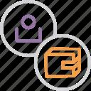 account, balance, cash, customer, employee, user, wallet icon
