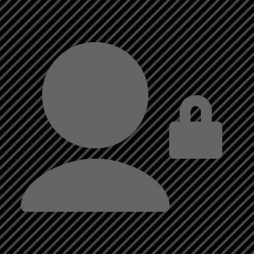account, block, lock, user icon
