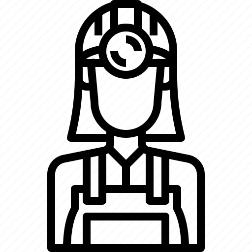 avatar, female, miner, people, person, user, woman icon