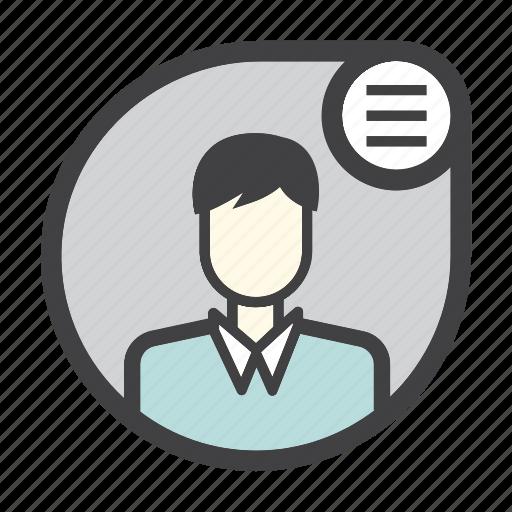 avatar, male, man, profile, user icon