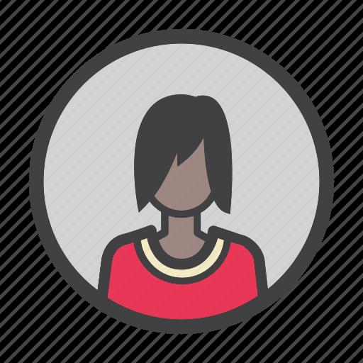 avatar, female, profile, user, woman icon