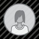 avatar, female, profile, user, woman