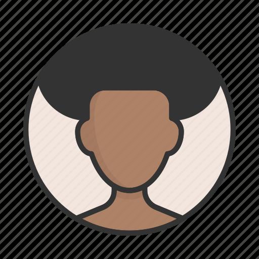 account, afroamerican, avatar, person, profile, user icon