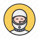 account, astronaut, avatar, person, profile, user icon