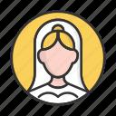 account, avatar, bride, person, profile, user, wedding icon