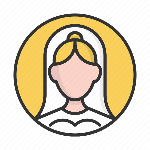 account, avatar, bride, person, profile, user, wedding icon