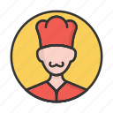 account, avatar, chief, cooker, person, profile, user icon
